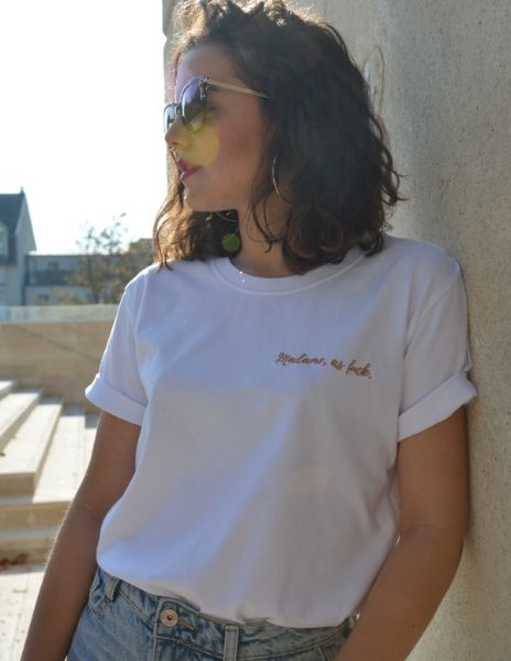tshirt mariée made in france brodée